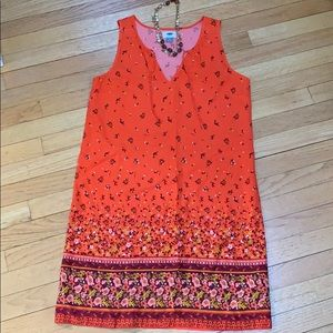 Old Navy orange floral dress size Small